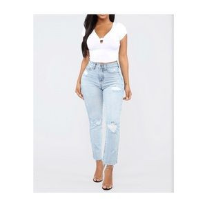 Fashion Nova Pucker Up Jeans - Size 14
